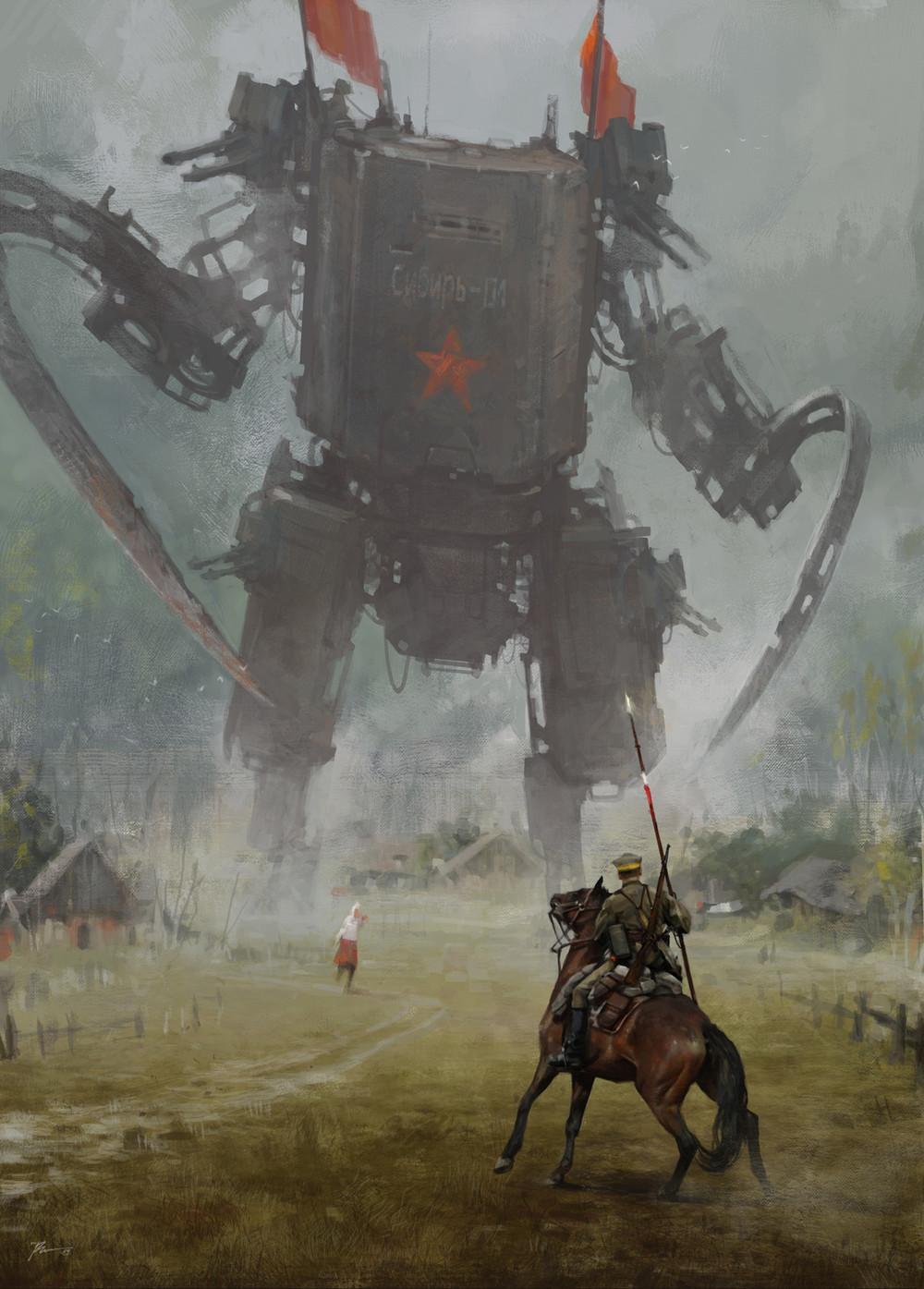 Giant Scythe Fantasy Art