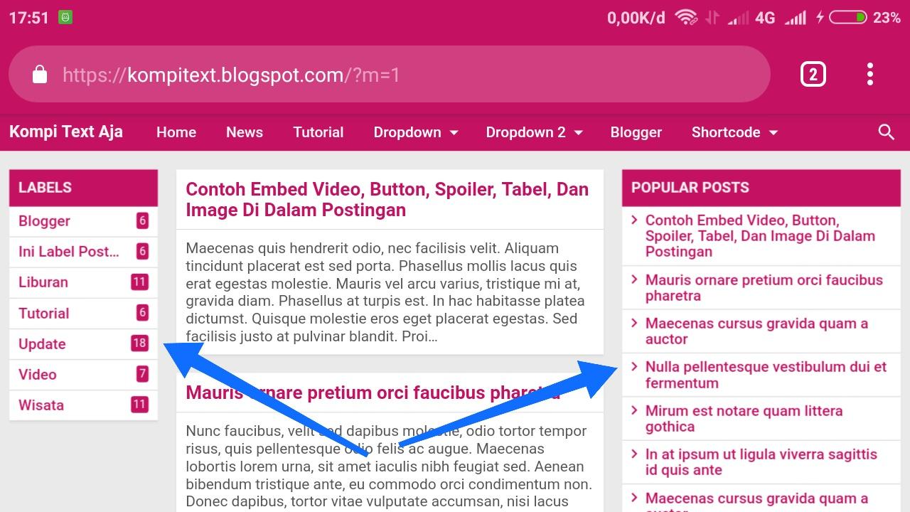 Baru gres ini Telah Merilis Template gres nya yang di beri nama Kompi Text Aja sesuai deng Kompi Text Aja Template Blogger Premium