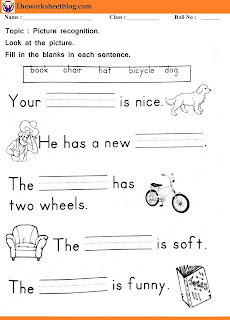 write the word for the given picture worksheet.