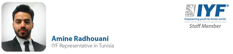 Amine Radhouani, IYF Representative in Tunisia
