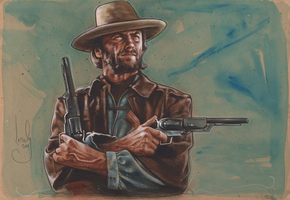 Clint Eastwood, The Outlaw Josey Whales, Artwork is Copyright © 2014 Jeff Lafferty