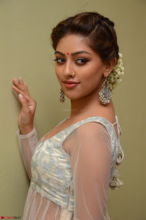 Anu Emmanuel in a Transparent White Choli Cream Ghagra Stunning Pics 047.JPG