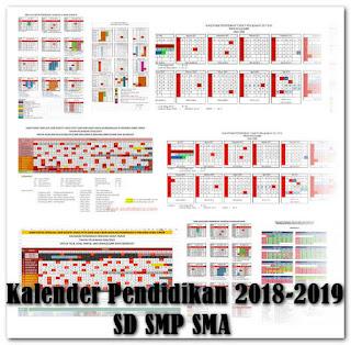 Download Kalender Pendidikan 2018-2019 SD SMP SMA dan Sederajat