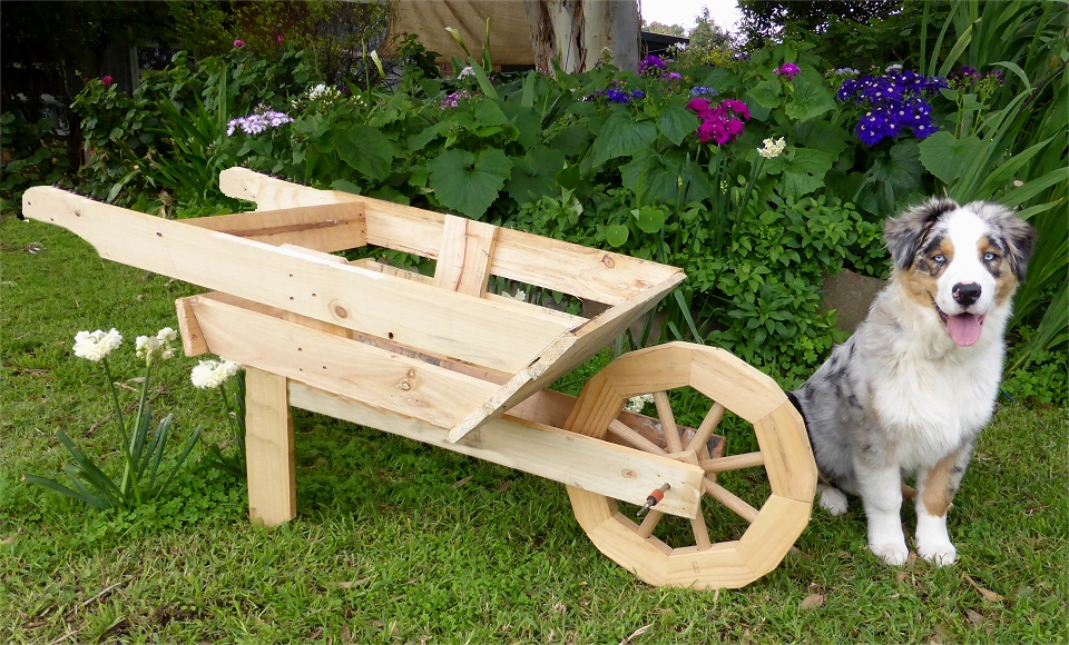 Wooden Wheelbarrow Planter With Free Plans Instructions Tea Tree