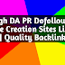 75 High DA PR Dofollow Profile Creation Sites List 2019 | Quality Backlinks