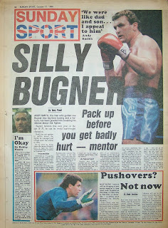 Back cover page of Sunday Sport newspaper dated 12-Oct-86