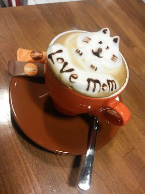 coffe cat art, kopikat, peminat kucing,