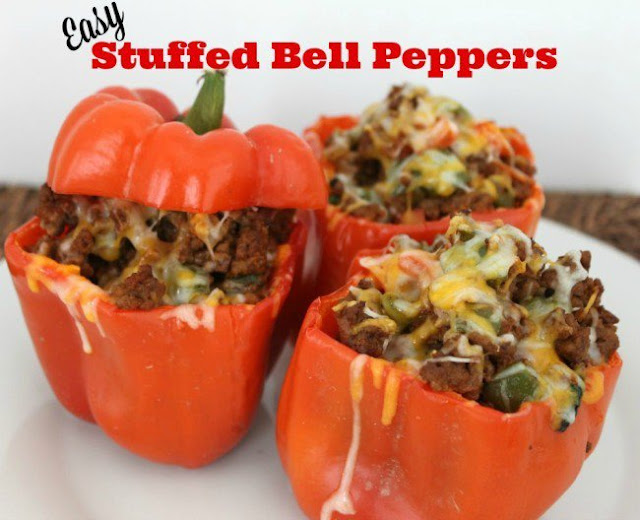 Easy Stuffed Bell Peppers - My Favorite Paleo Dinners :: OrganizingMadeFun.com