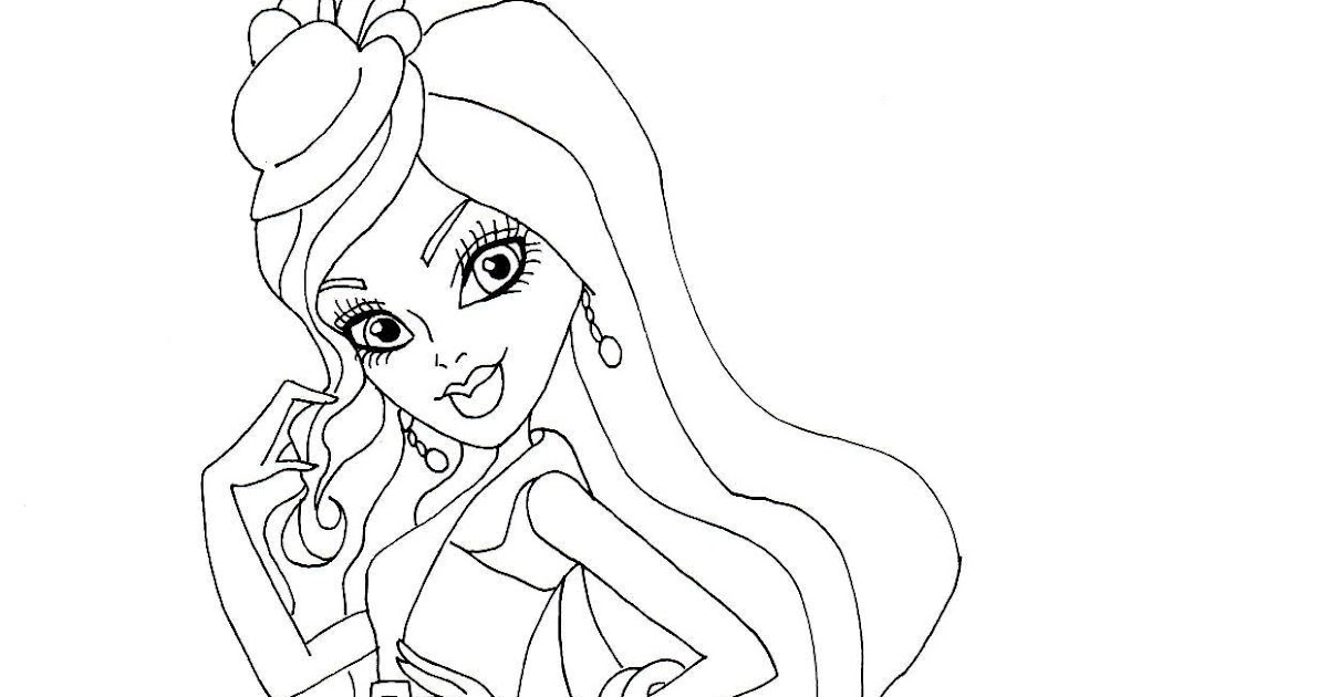 Free Printable Monster High Coloring Pages: Spectra Ghouls