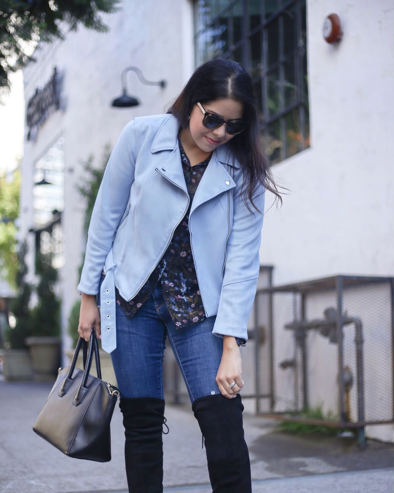 how to wear over the knee boots, latina style blogger in california