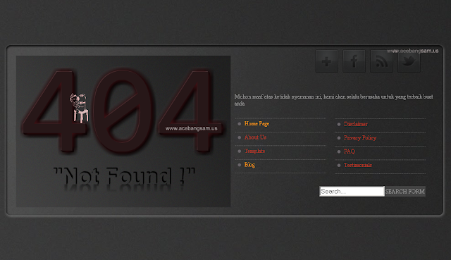Cool 404 Error Page Blog Irvandev
