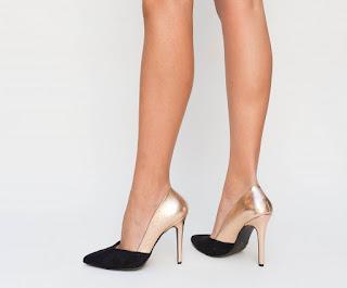 Pantofi Lory Bronz eleganti de ocazii speciale