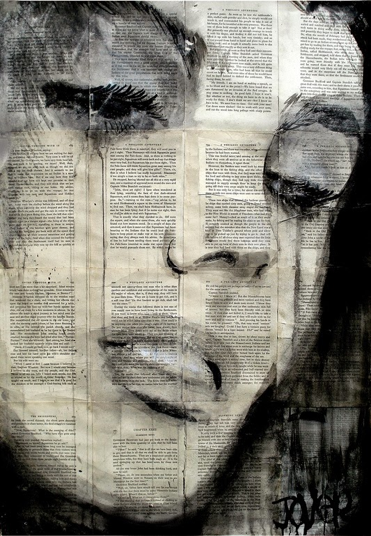 26-Solitude-Loui-Jover-Drawings-on-Book-Pages-www-designstack-co