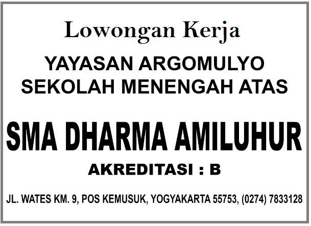 Lowongan Guru SMA Dharma Amiluhur