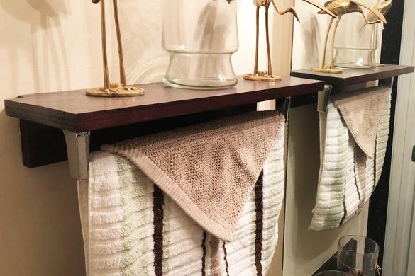 Bathroom DIY decorating shelves
