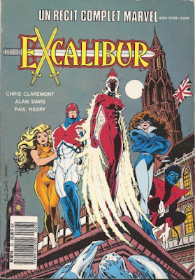 Couverture Excalibur RCM 23 de Chris Claremont et Alan Davis chez Semic France