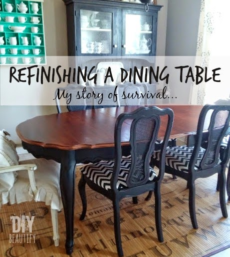 Refinishing a dining table diy beautify - Refinish contemporary dining room tables ...