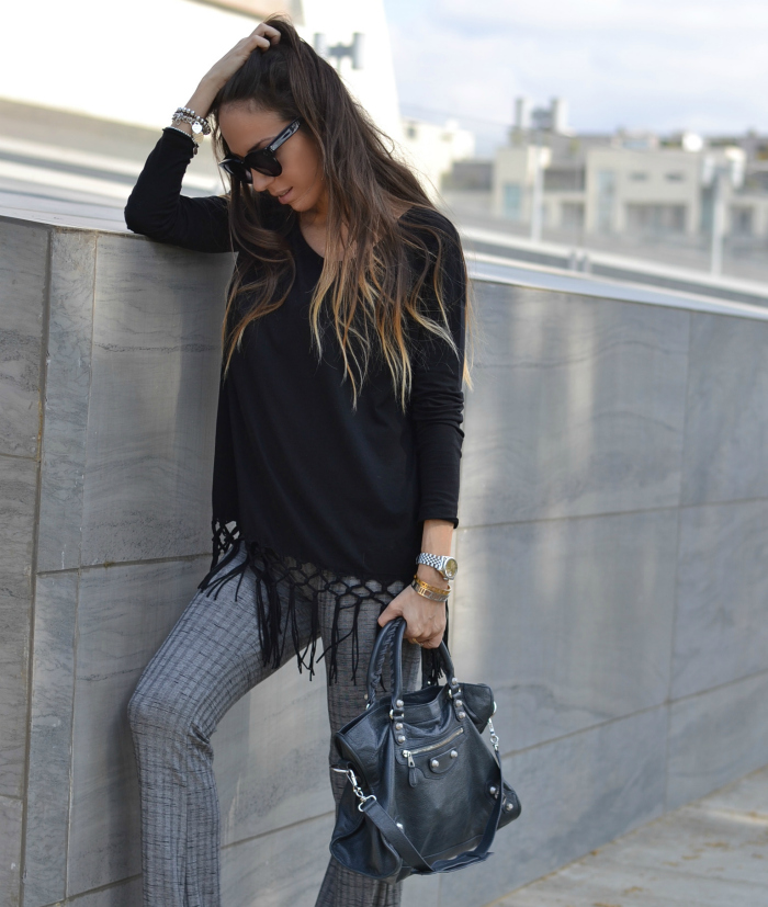 fringe black top
