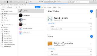 Kirim lagu ke iPhone