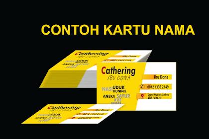 Contoh Kartu Nama cathering