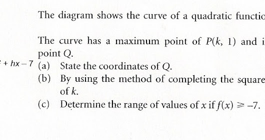 Chapter 3 - Quadratic Functions