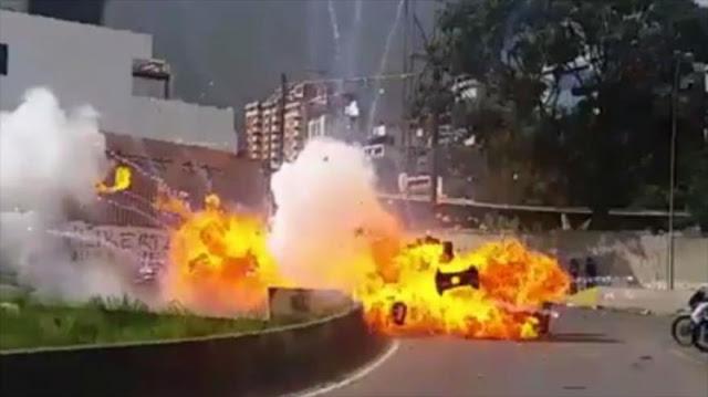 """""""Periodista colombiano lideró ataque con explosivos en Venezuela"""""""