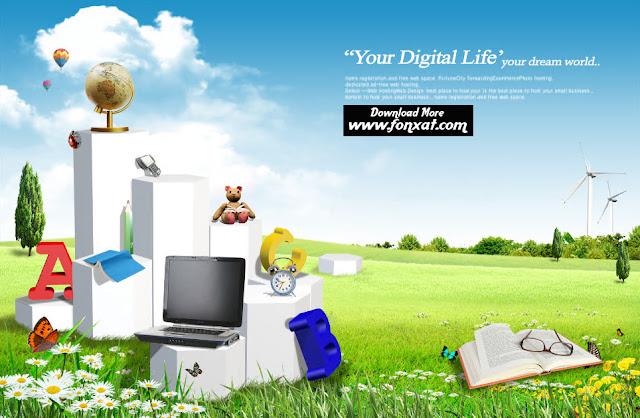 FREE PSD download : Design school kits