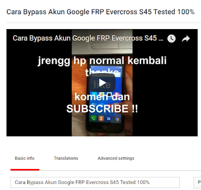 Cara Bypass Akun Google FRP Evercross S45 Tested 100% Premium File