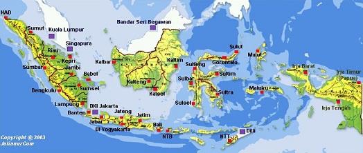 Gambar peta wilayah indonesia terbaru