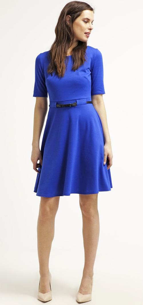 Robe courte en Jersey bleu cobalt Wallis