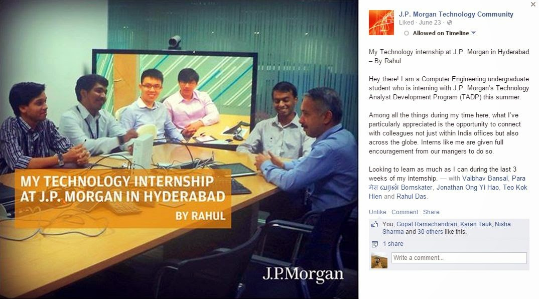 What it's like to intern at J P  Morgan Chase   SoSpeakUpNow!