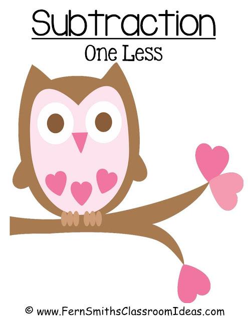 http://www.teacherspayteachers.com/Product/FREE-Valentines-Subtraction-One-Less-Center-Game-194372