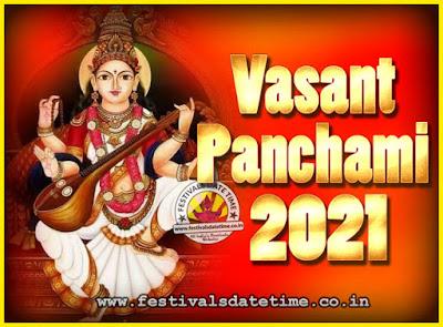 2021 Vasant Panchami Puja Date & Time, 2021 Vasant Panchami Calendar