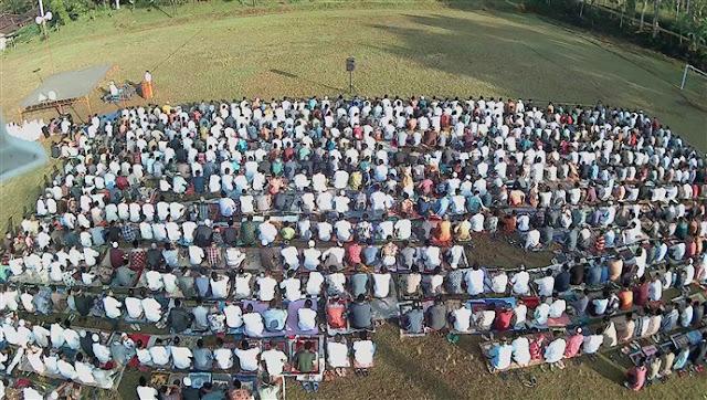 Warga Lemahireng Bawen Sholat Ied 1438 H di Lapangan Utama Bulu Jaya