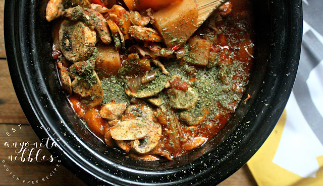Crock Pot Gluten Free Chicken Cacciatore