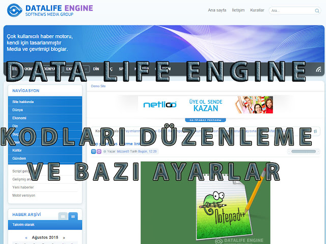 data life engine kurulum