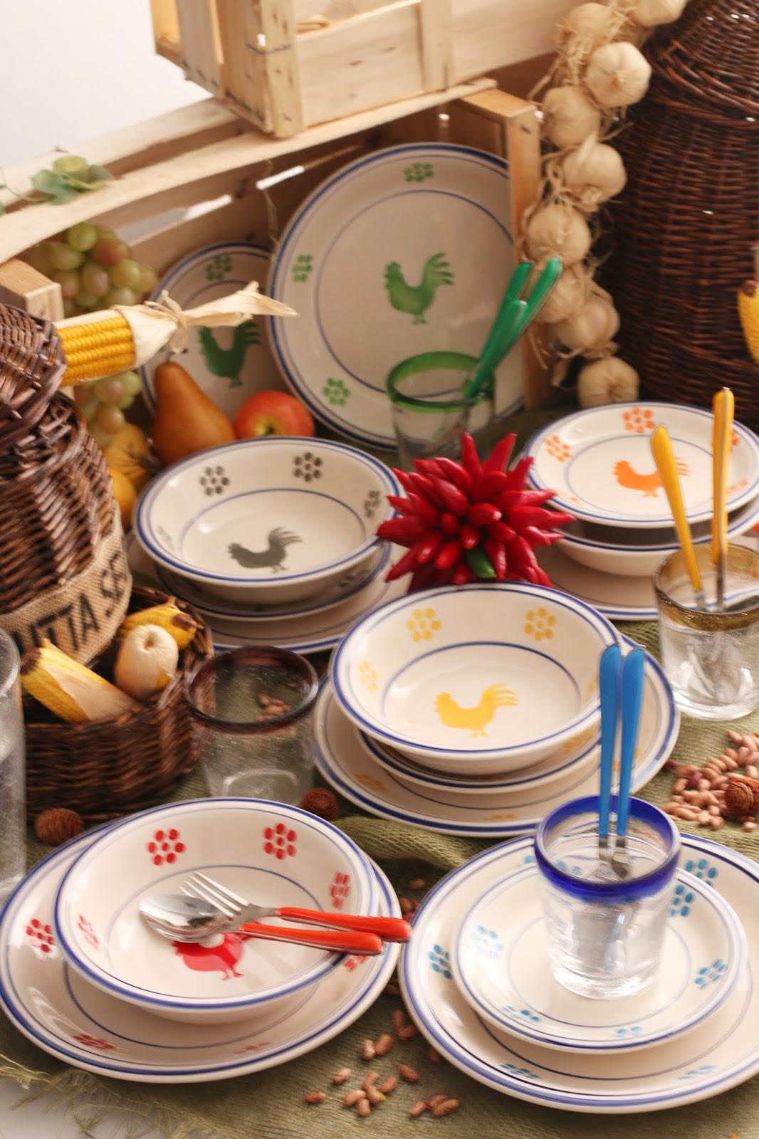 Servizio di piatti colorati for Servizio di piatti