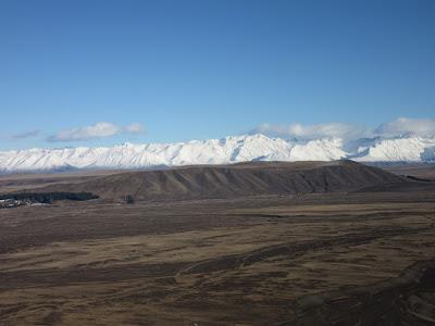 Alpes del Sur desde el monte John, en Nueva Zelanda