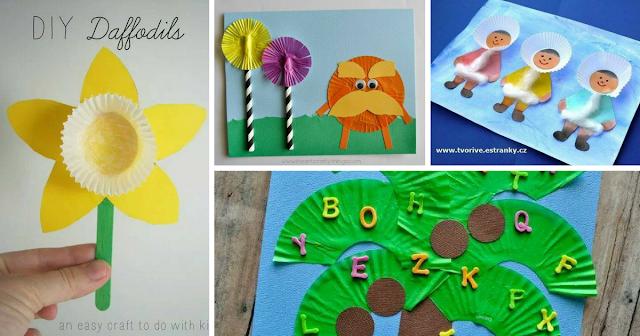 Ideias com forminhas de papel