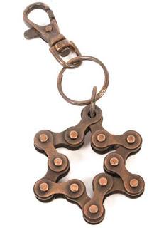llavero cadena de bici