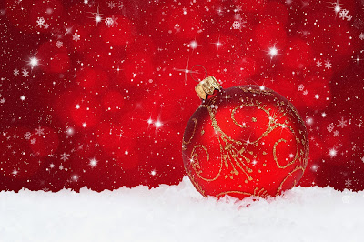 Red_Christmas_Snowy_Background_with_Christmas_Ball