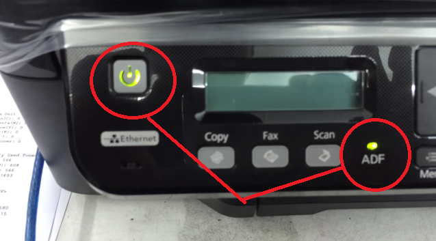 Printer Epson L555 Error Blinking Power dan ADF