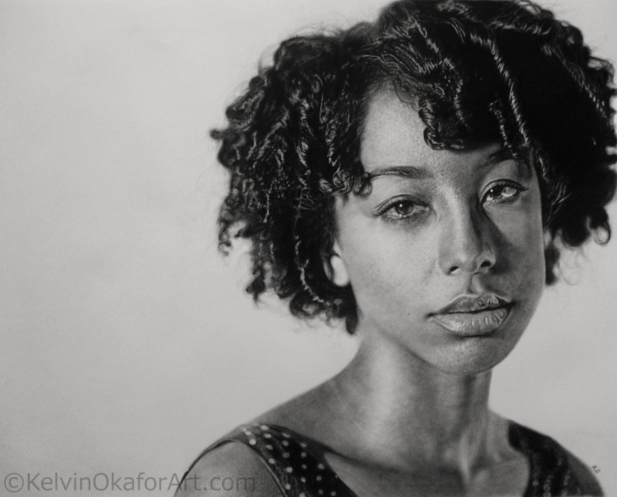 03-Corinne-Bailey-Rae-Kelvin-Okafor-Realistic-Pencil-Drawing-Portraits-www-designstack-co