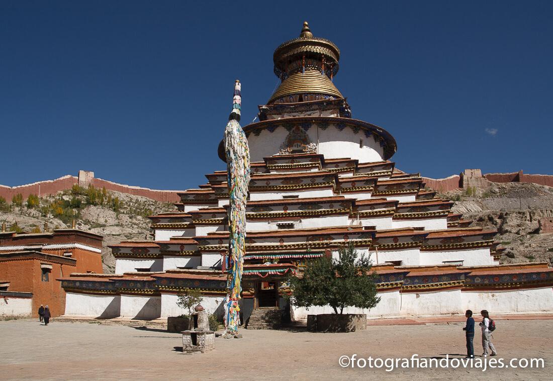 Kumbum en el Pelkor Chode o monasterio Palcho en Gyantse Tibet