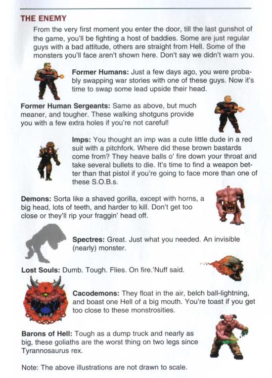 DOOM 1993 characters