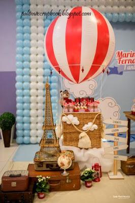 Decoração Festa volta ao mundo balão de ar quente