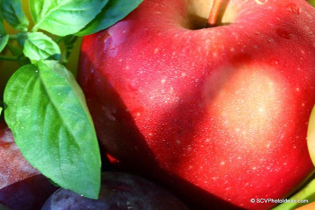 Apple and Basil closup