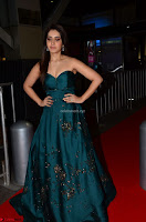 Raashi Khanna in Dark Green Sleeveless Strapless Deep neck Gown at 64th Jio Filmfare Awards South ~  Exclusive 055.JPG