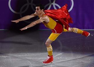 Javier Fernández divertida actuacion gala juegos olimpicos 2018