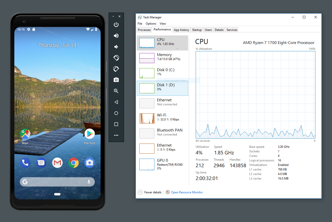 Android Developers Blog: Android Emulator - AMD Processor & Hyper-V